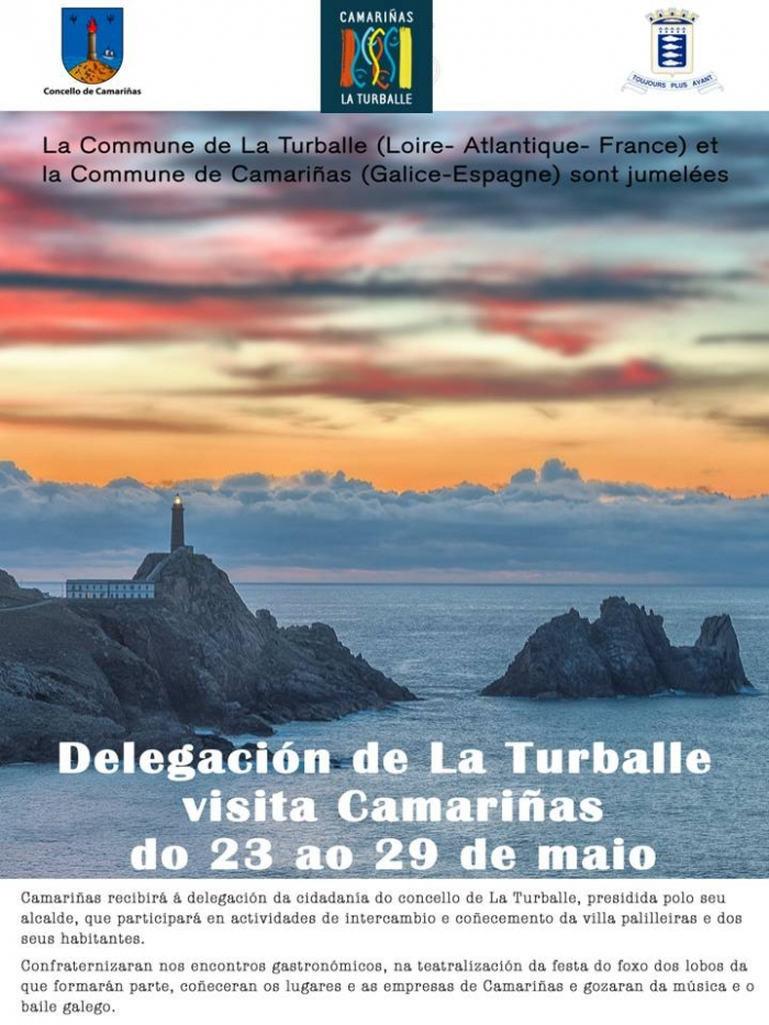 The city council of La Turballe will visit Camariñas