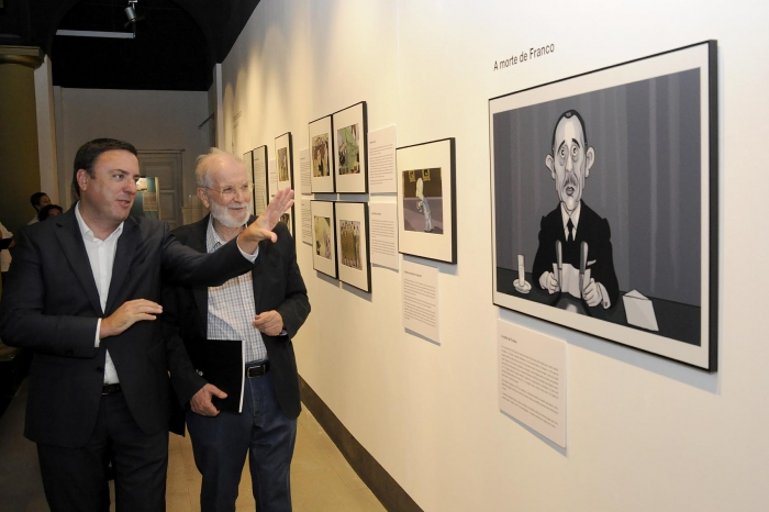 The Deputation takes to Cee an exhibition of cartoons of Siro Lopez on the 40 anniversary of the Constitution