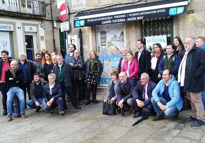 Yesterday it was inaugurated  the new information point of the Way of Santiago-Fisterra-Muxía