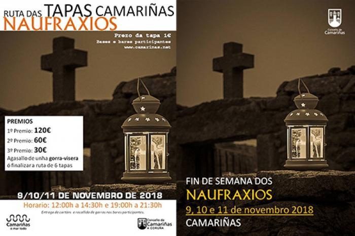 """Camariñas se prepara para un """"Fin de Semana de Naufragios"""" con propuestas gastronómicas, culturales y turísticas."""