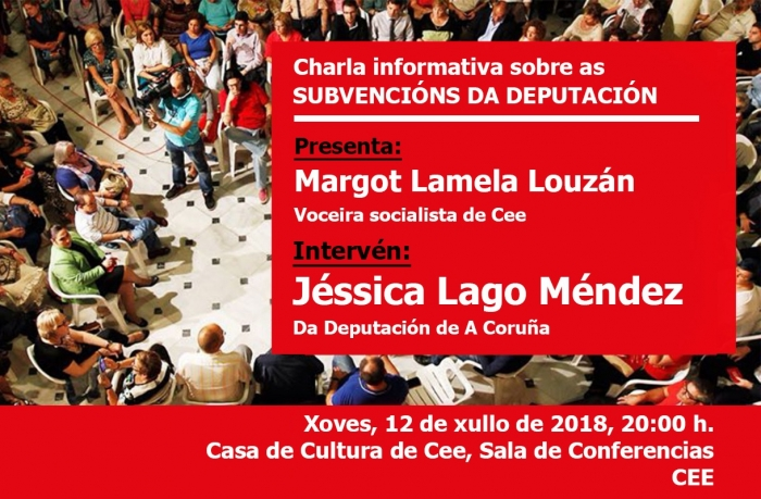 Informative talk envelope the subsidies of the Deputation of A Coruña at the Culture Hall of  Cee
