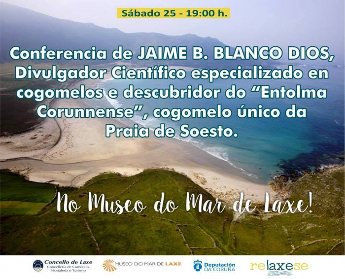Conferencia do micólogo Jaime Blanco Dios no Museo do Mar