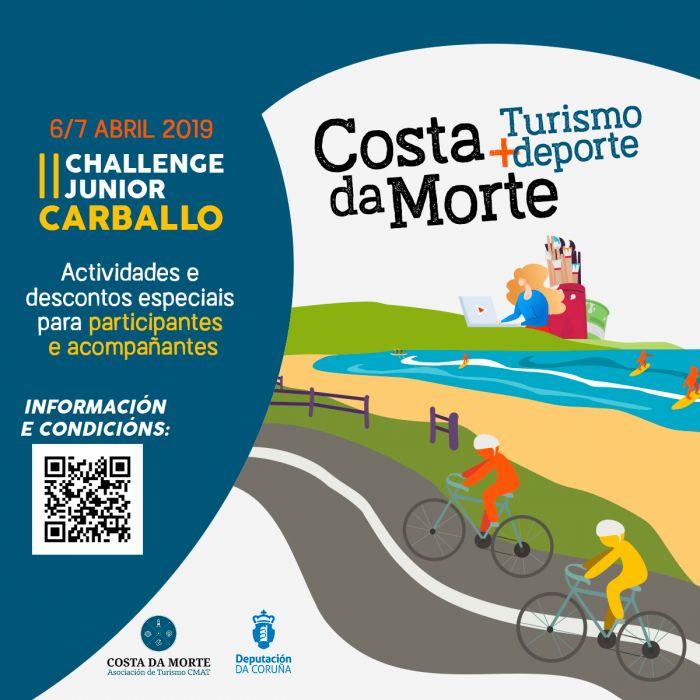 Costa da Morte Turismo + deporte llega a su meridiano con el II Challenge Junior de Carballo incluyendo una amplia oferta de servicios y beneficios para los participantes