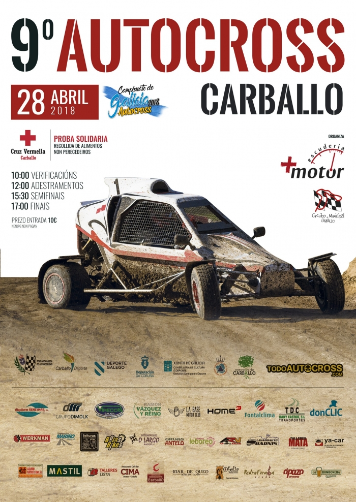 The 9th edition of Autocross City council of Carballo opens the autonomic calendar with the highest registration of the last years