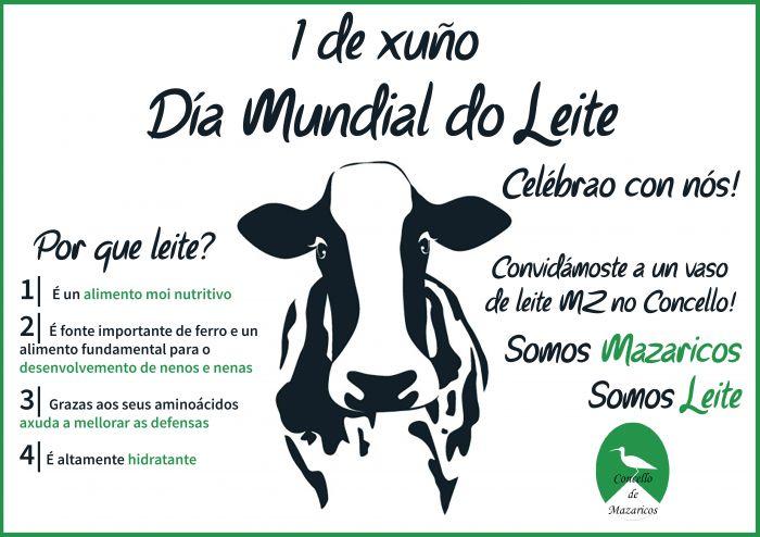 El Ayuntamiento de Mazaricos invita a productos lácteos en Día Mundial de la Leche