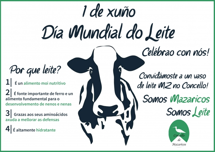 The City council of Mazaricos suited to dairy products in the World-wide Day of the Milk