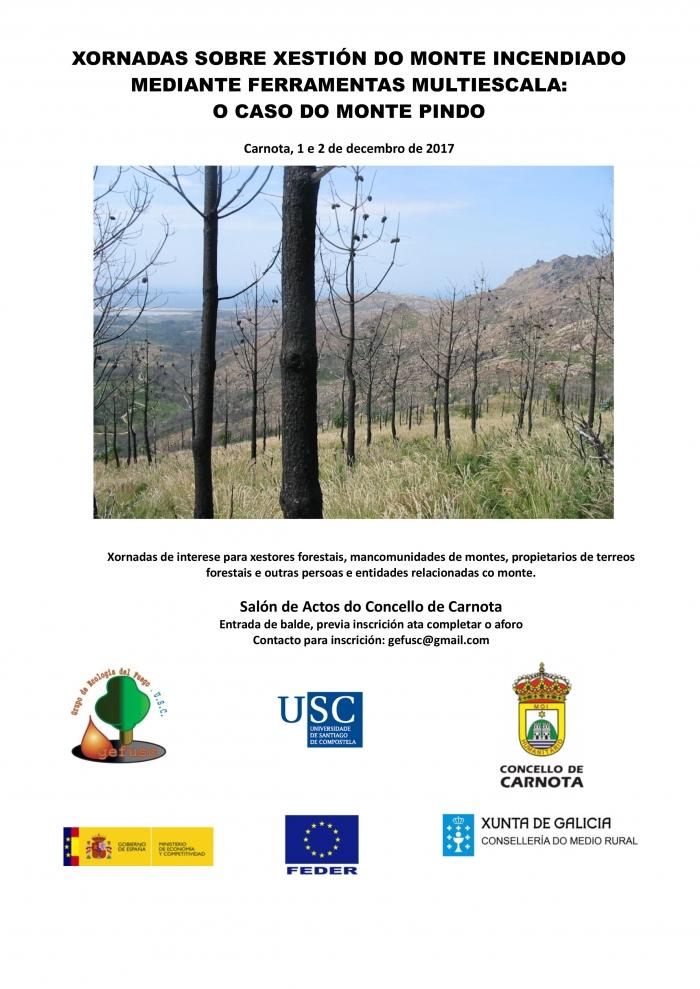 Xornadas sobre xestión do monte incendiado mediante ferramentas multiescala: O Caso do Monte Pindo