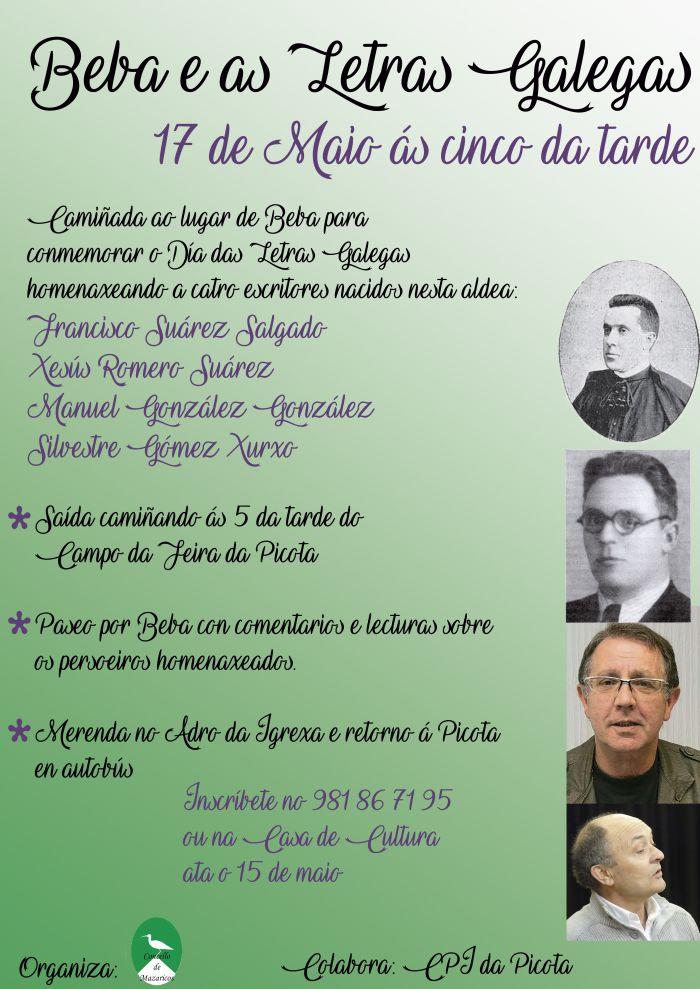Mazaricos homenaxea aos seus escritores cun roteiro no Día das Letras Galegas