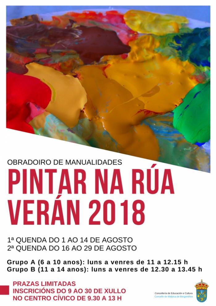 """Pintar na Rua"" en Malpica 2018"