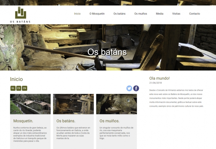 Premier of a new web dedicated to the ensemble of Batáns and the mills of Mosquetín