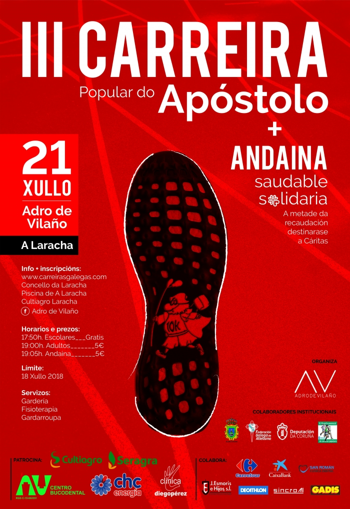 Surpassed the 200 enrolled to the III Popular Career of the Apostolo of Vilaño - A Laracha.