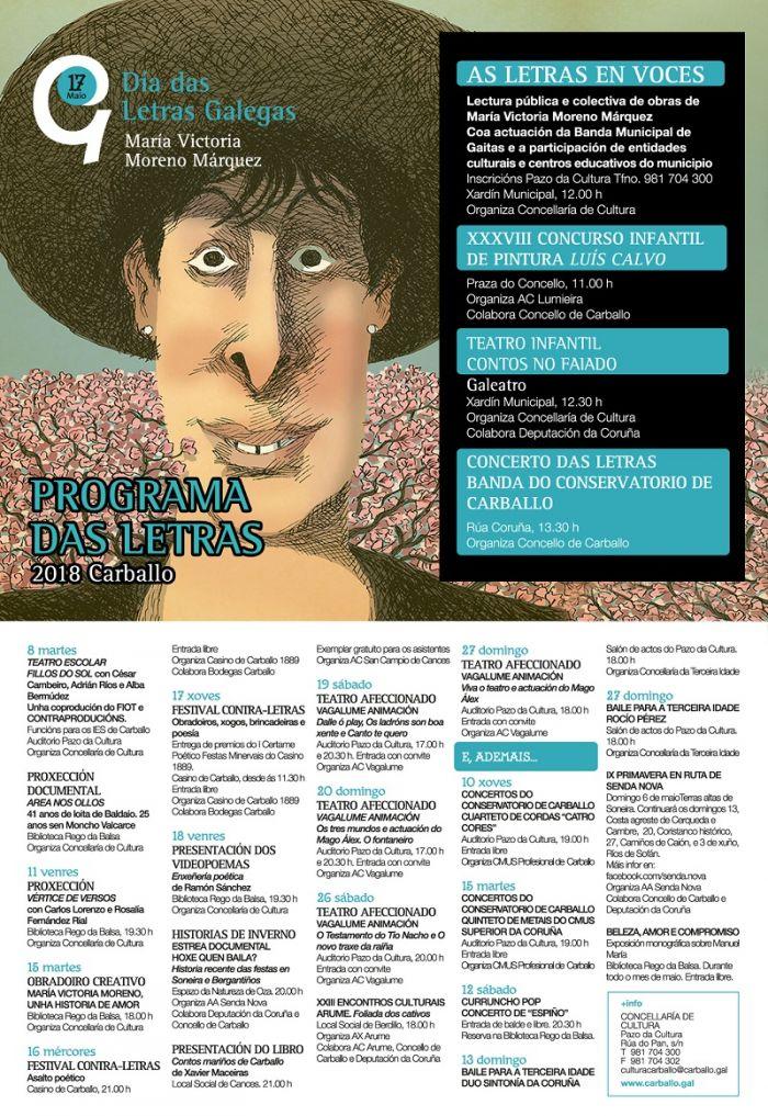Teatro, proxeccións audiovisuais, pintura, obradoiros e música comparten protagonismo coa literatura en Carballo