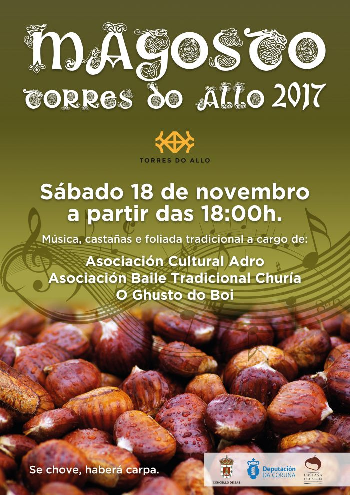 Torres do Allo celebrates the most expected weekend of the autumn with a magosto with foliada.