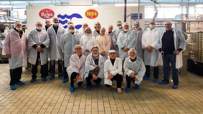 Un grupo de representantes institucionales y del sector pesquero del FLAG Istarska Batana visitaron Camariñas para conocer los proyectos promovidos por el Ayuntamiento.