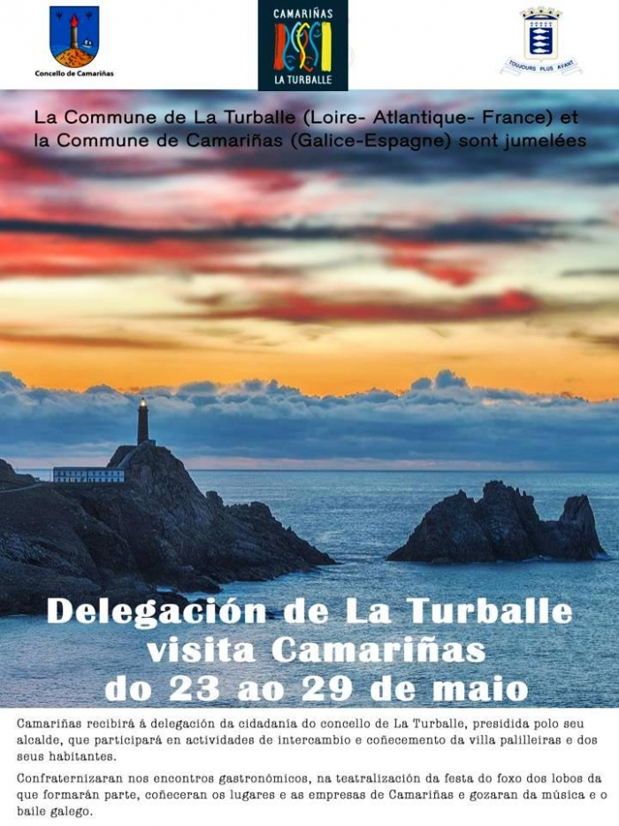 A delegation of La Turballe will visit Camariñas in May