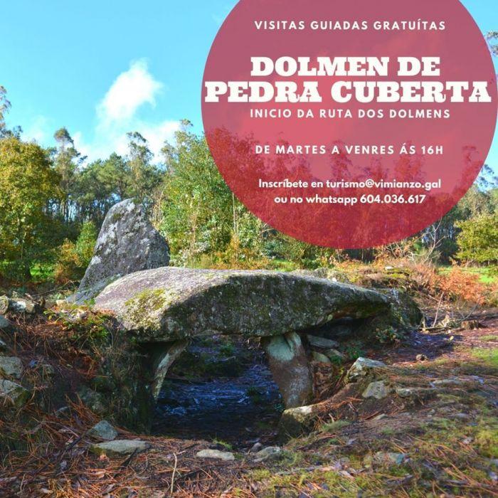 Visita ao dolmen de Pedra Cuberta